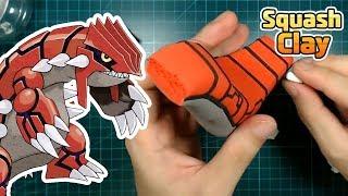 Pokémon Clay art - Groudon ground type Legendary Pokémon