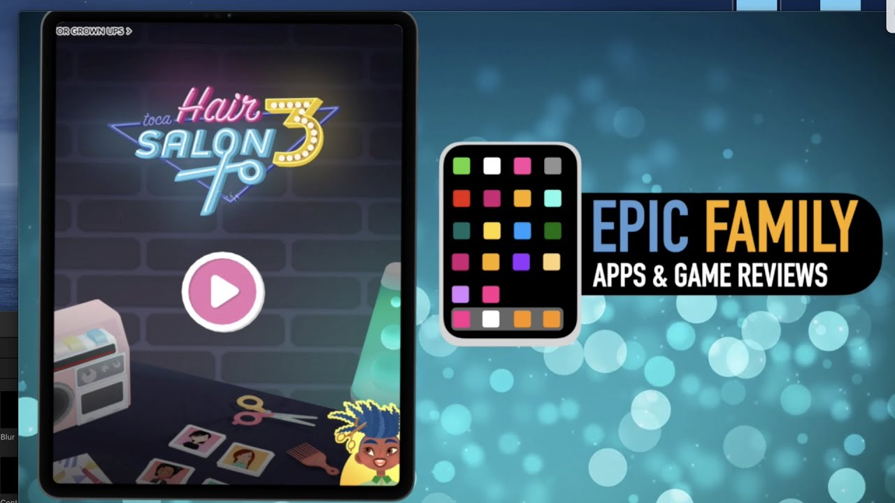 Epic Family App Review Toca Hair Salon 3 Youtube