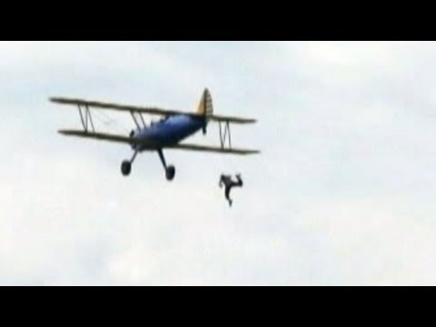Wing Walker's Fall From Plane Caught on Tape; Three Separate Air Show Tragedies Strike Across Globe