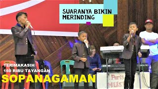 Trio Bocah ! Cover Lagu Batak SOPANAGAMAN-GORAME BAND !