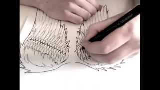 Drawing Angel Wings
