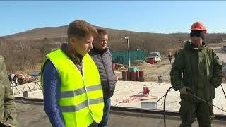 Губернатор проинспектировал ход ремонта находкинской трассы