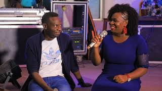 Justine Nabbosa with Pastor Wilson Bugembe in an exclussive Q&A and a Worship moment.