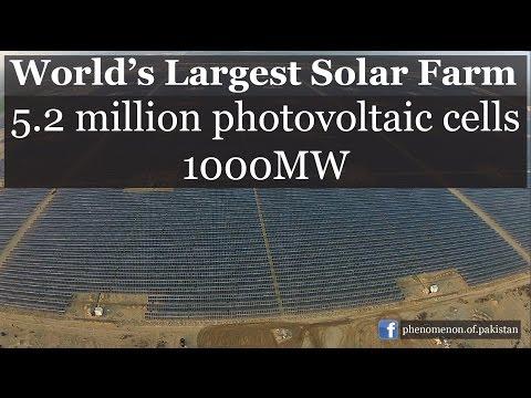 5.2 Million Photovoltaic Cells   Pakistan: World's Largest SolarFarm   HD