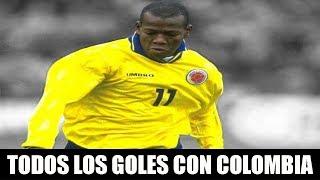 Todos los goles oficiales de FAUSTINO ASPRILLA con la SELECCIÓN COLOMBIA