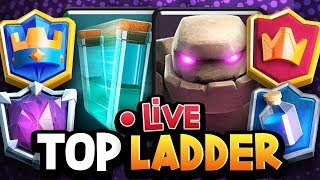 GOLEM CLONE GOD LIVE on TOP LADDER! INSANE DECK!