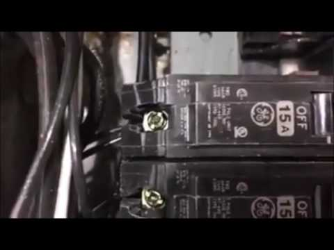 Chicago Home Inspector Shows Double Tap In An Electrical Panel | (708) 329-8625 | Call Us!