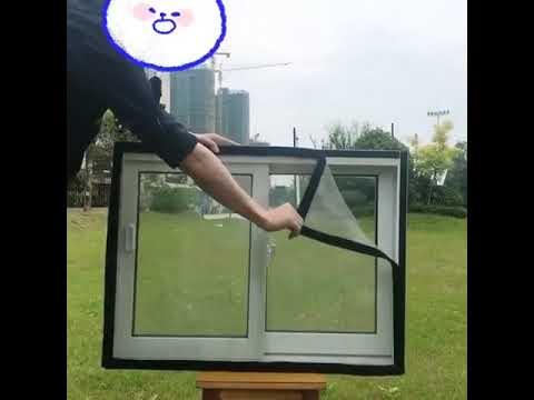 【訂製】防蚊蟲防鼠紗窗網304不銹鋼沙窗網定做魔術貼包邊加厚家用可拆卸 - YouTube