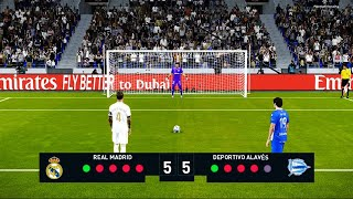 Real Madrid vs Alaves | Penalty Shootout | PES 2020 Gameplay La Liga