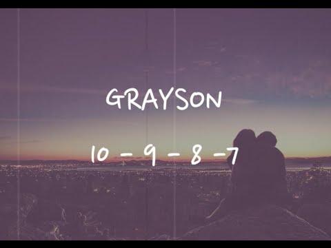 Grayson - '10-9-8-7' (Lyric Video)