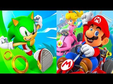 Sonic Dash JET VS Mario Kart Tour