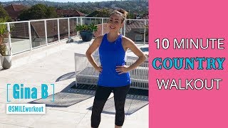 10-Minute Country WALKOUT - Walking & Country Dance Moves In a Quick Cardio Workout
