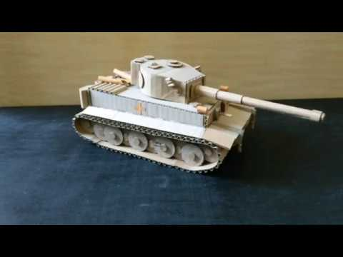 How to make tank taigen Tiger from cardboard