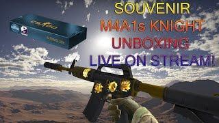 UNBOXING a M4A1s KNIGHT!! Cologne 2016 Cobblestone Souvenir Case