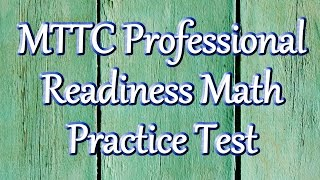 Free MTTC Professional Readiness Examination (096) Math Practice Test