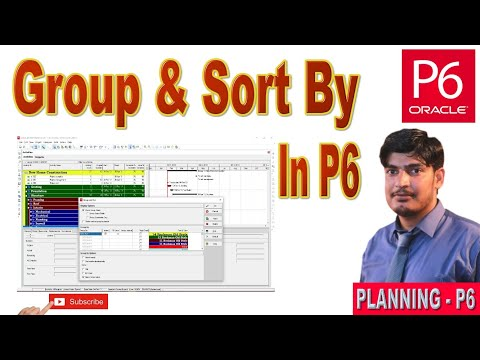 How to Group and Sort By in primavera p6  primaverap6   planning p6  