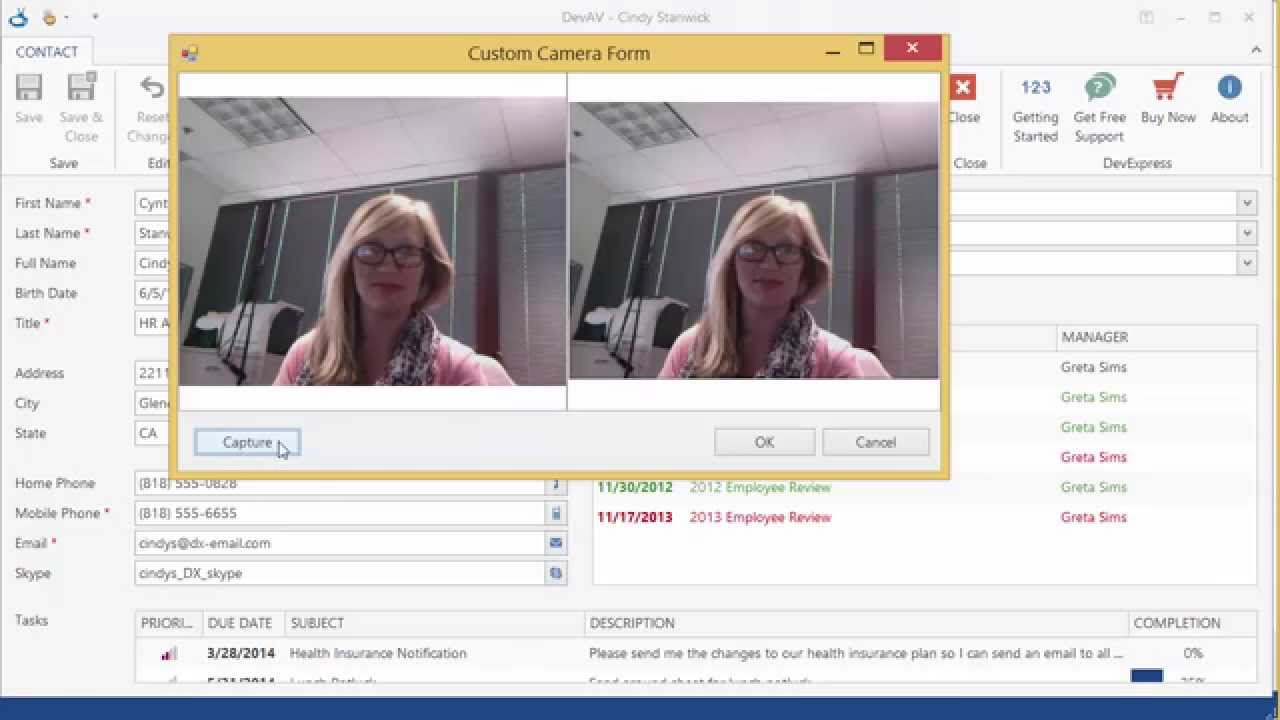 DevExpress WinForms: Camera Control