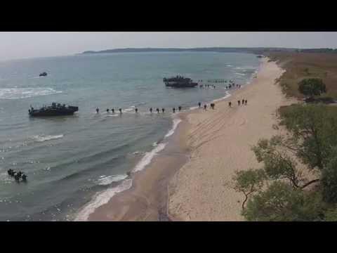 BALTOPS 2015 Amphibious Landing Assault Exercise on the Beaches of Sweden