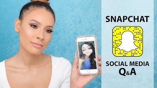 SNAPCHAT Q&A ANSWERING ALL YOUR SOCIAL MEDIA QUESTIONS | DESI PERKINS