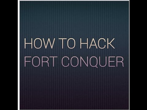 How to hack fort conquer by V hack