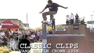Vans Triple Crown Skateboard Contest 1998 Asbury Park Classic Clips