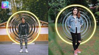 Edit Foto Terbaru Efek Lingkaran Neon di PicsArt  - TUTORIAL