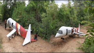 Build Aircraft House Design By Ancient Engineering In The Jungle