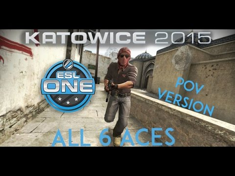 5 of 6 aces from Katowice 2015 - POV version