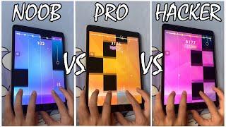 Magic Tiles 3 - NOOB vs PRO vs HACKER - BEST PLAYER(WORLD RECORD)!!! screenshot 1