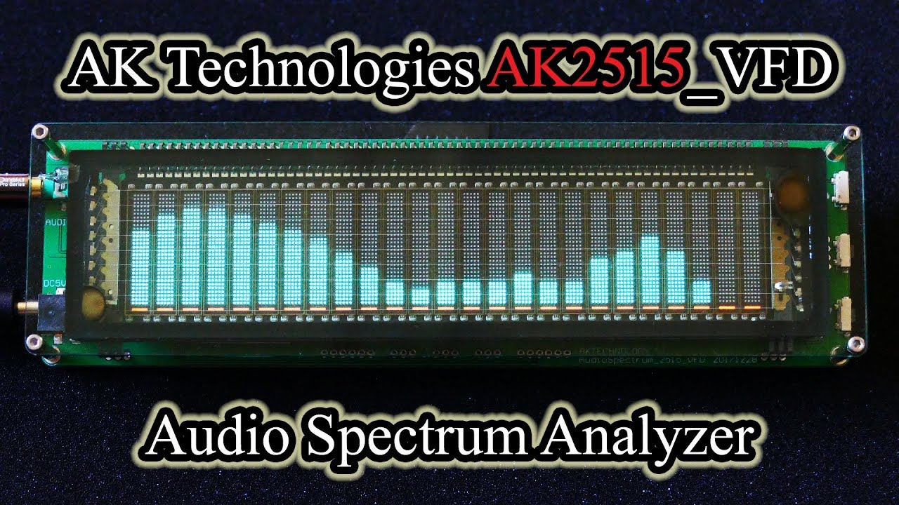AK Technologies AK2515_VFD Audio Spectrum Analyzer