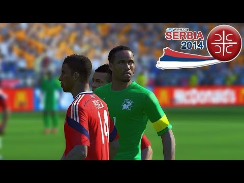 Colombia vs. Ivory Coast | jmc World Cup Serbia 2014 | Pro Evolution Soccer 2014 (PES 2014)