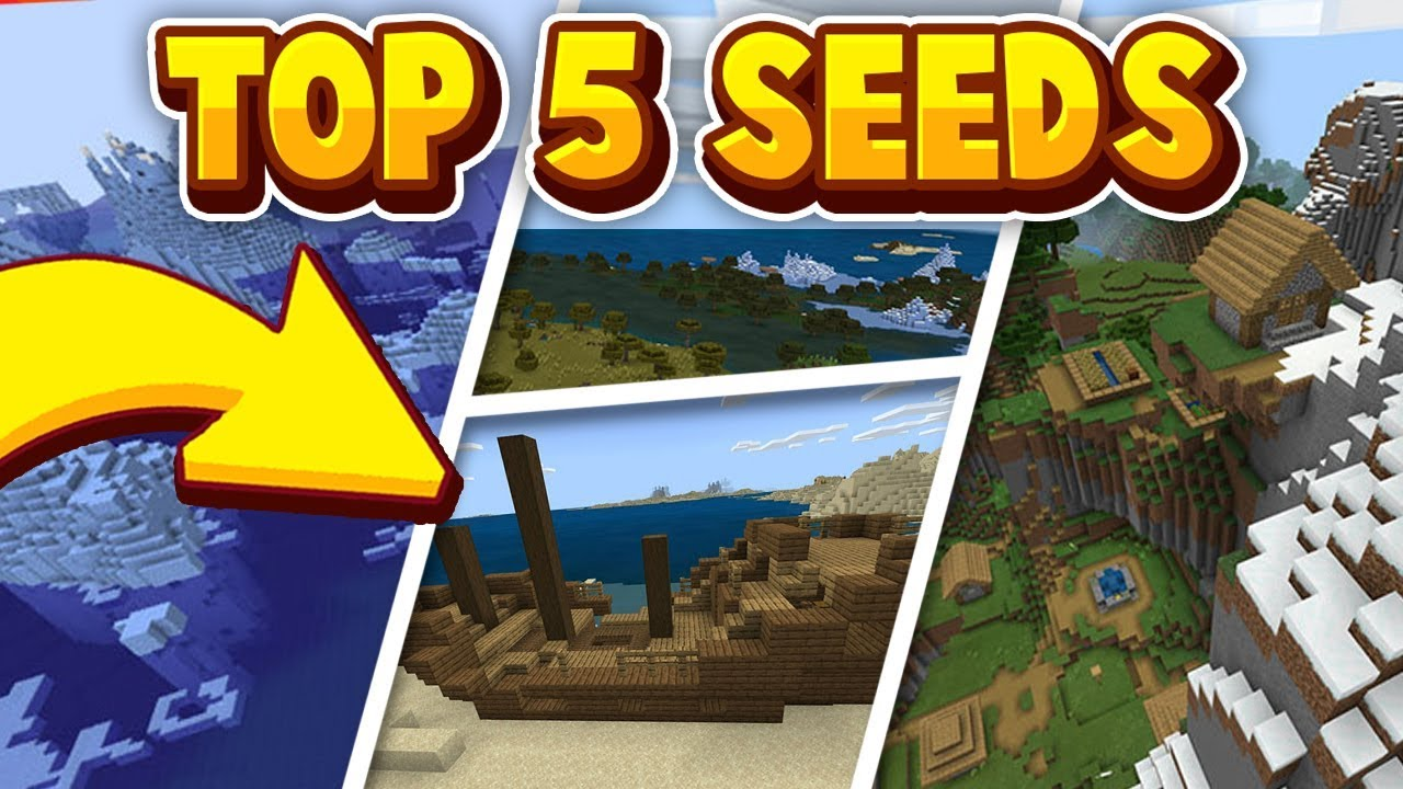 TOP 9 BEST SEEDS for MINECRAFT 9.92! (Pocket Edition, Xbox One, Switch,  Ps9, Bedrock Edition)