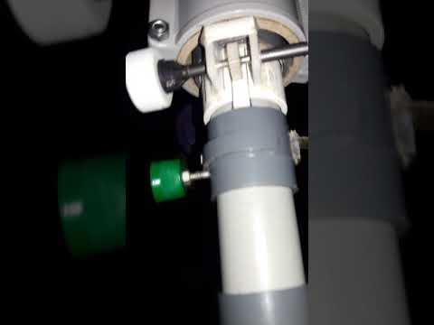 how to Making focuser adjustable telescope focus pvc