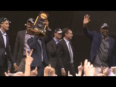 Welcoming the national champs home to Chapel Hill