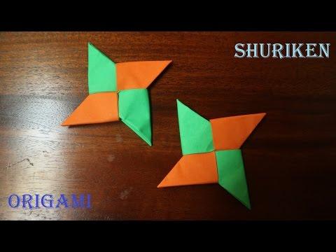 Cara membuat origami shuriken mudah