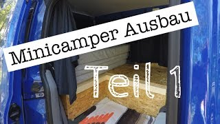 Minicamper Ausbau inkl. Küche und WC (Teil 1)   Hochdachkombi   Caddy, Kangoo, Berlingo