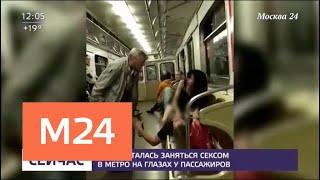 Пара пыталась заняться сексом в метро на глазах у пассажиров - Москва 24