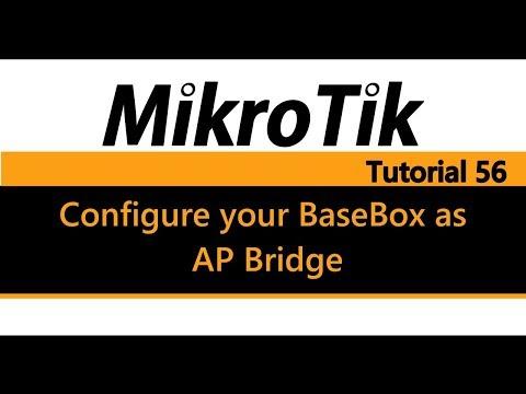MikroTik Tutorial 56 - Configure your BaseBox as AP Bridge using Quick Set