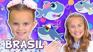 Família dos Dedos – Bebê Tubarão | WigglePop Brasil