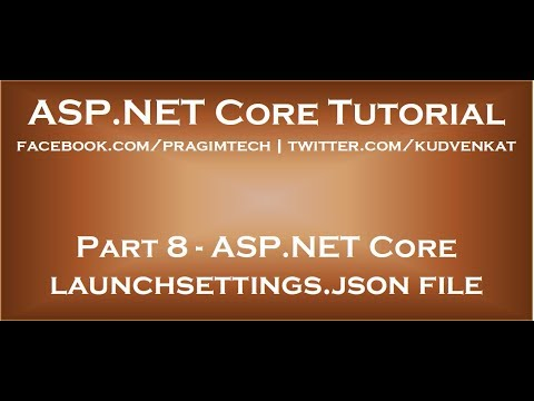 ASP NET Core launchsettings json file thumbnail