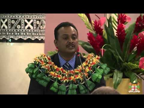 Fijian Assistant Minister opens Regional Forum on Meteorological and Hydrological Services.