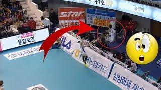 TOP 10 korean CRAZY volleyball saves !!