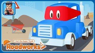 Карл Супер Грузовик Дорожные Работы - Стройка * Кран и Бур * Игры Мультики про машинки для детей