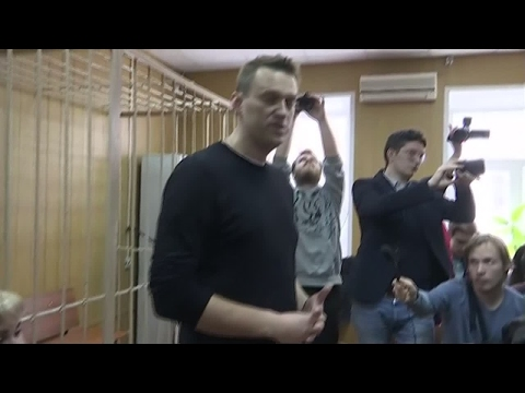 Russia: Opposition leader Alexei Navalny appears in court after being detained
