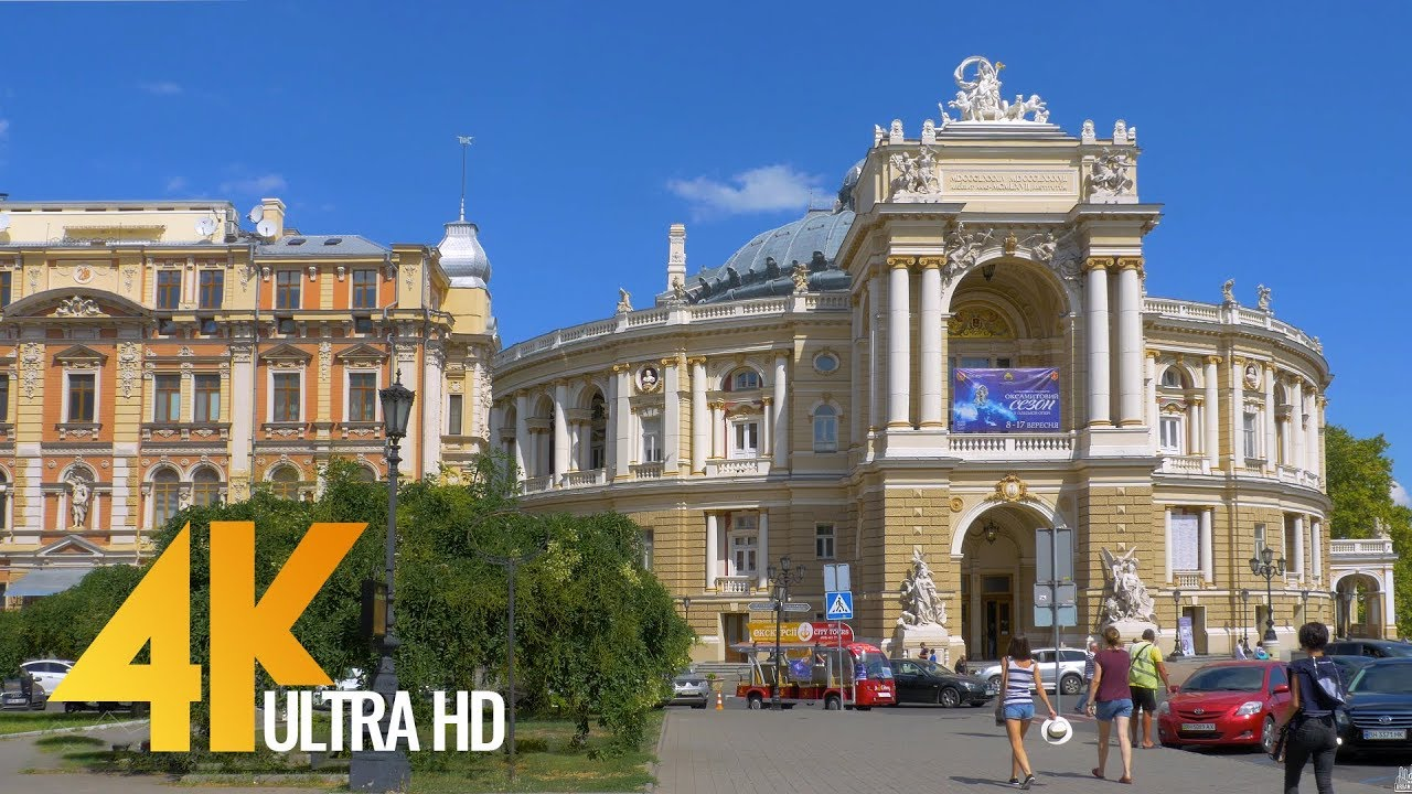 Cityscape Odessa 4K - Urban Life Documentary Film with Soothing Music