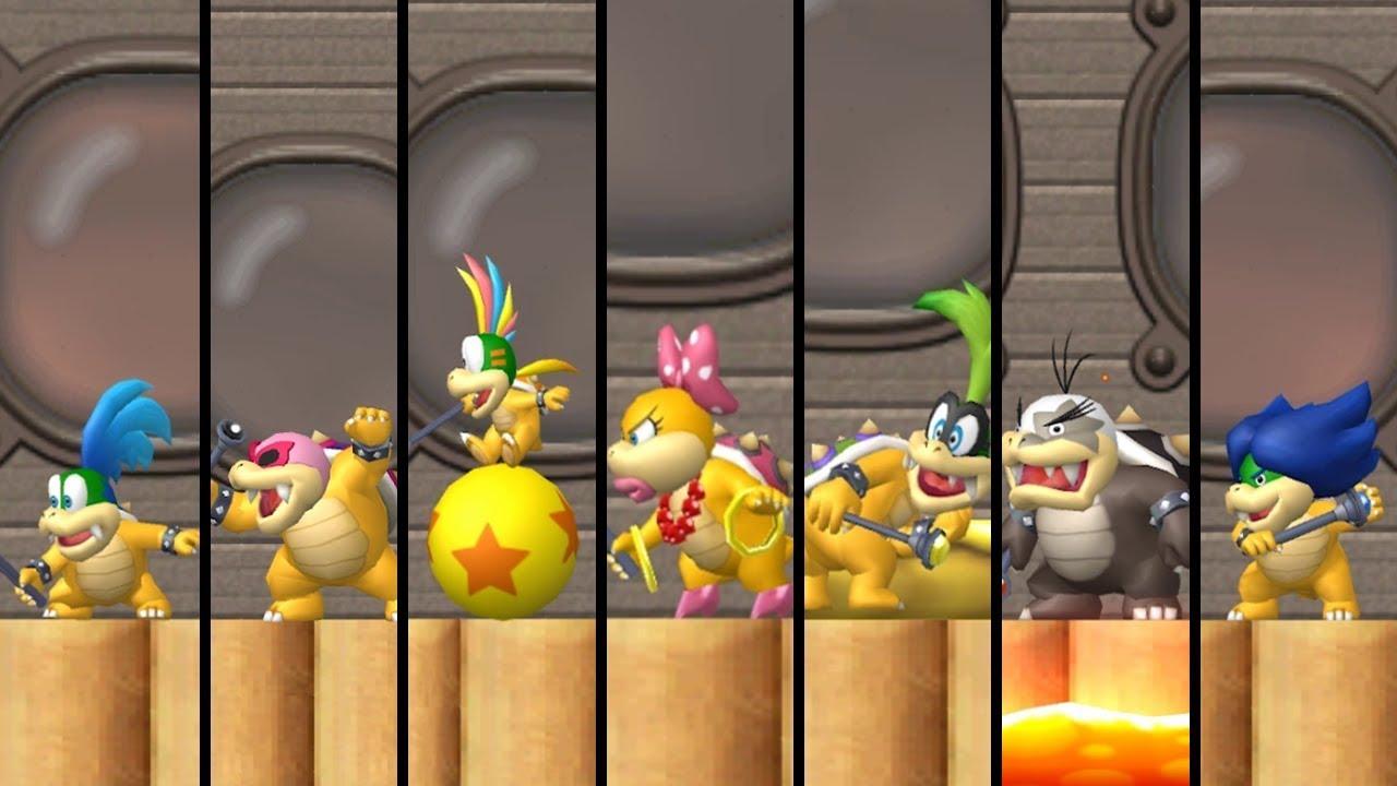 New Super Mario Bros 3 All Castles Koopaling Battles Youtube