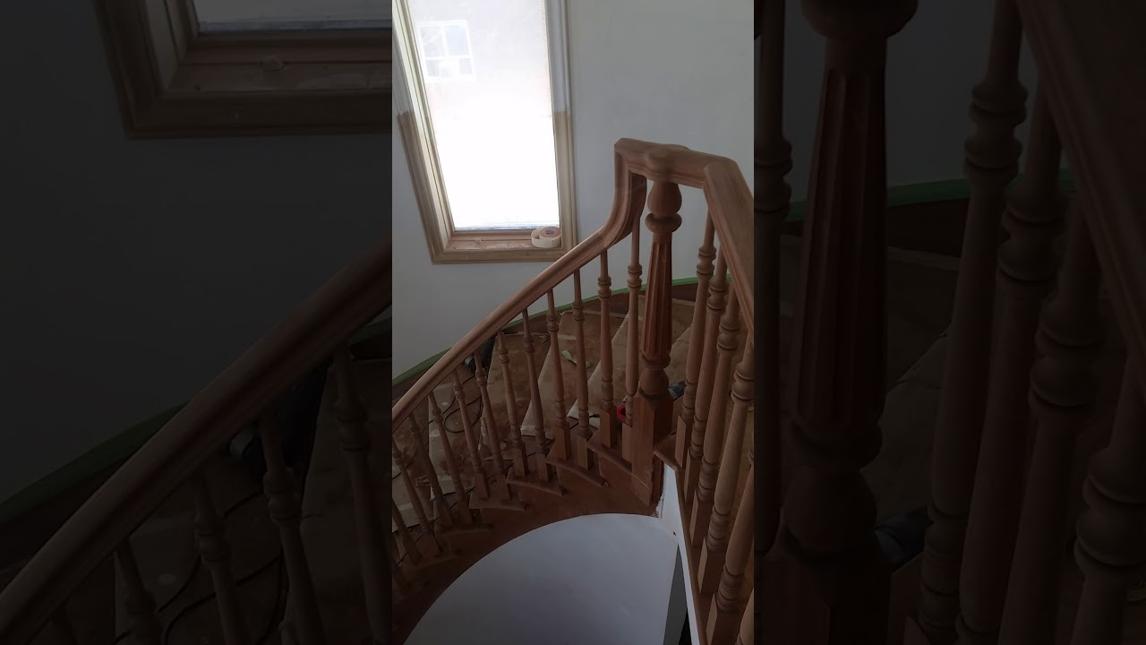 K Wood Stairs And Railing