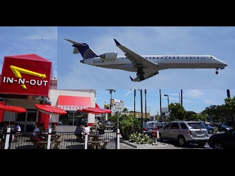 LA Airport LAX Airplanes Landing In N Out Burger Los Angeles Planes