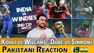 Pakistani Reacts to India vs WI 2nd T20 2019 | Kohli vs Williams & Dube vs Simmons