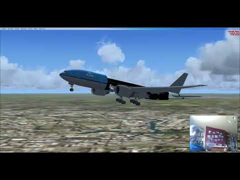 FSX: Panama City to Schiphol with a 777-200LR